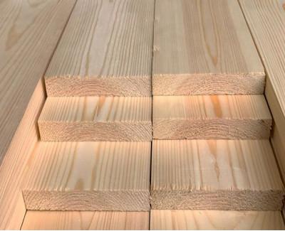 Обрезная доска из лиственницы 50мм I сорт